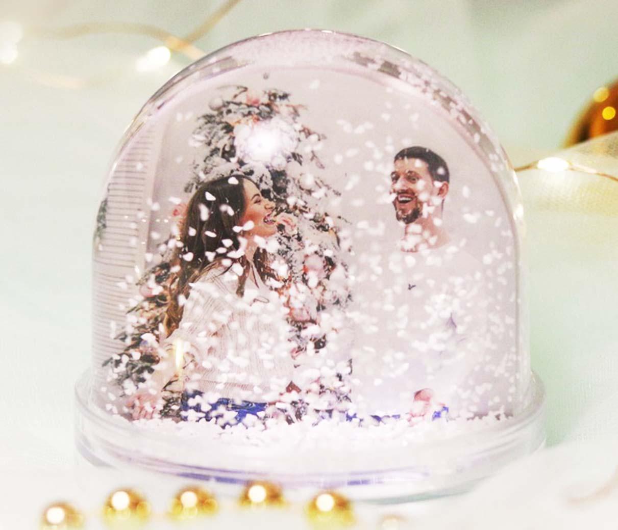 Снежная полусфера с фотографией